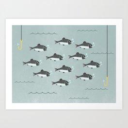 School of Fish Art Print