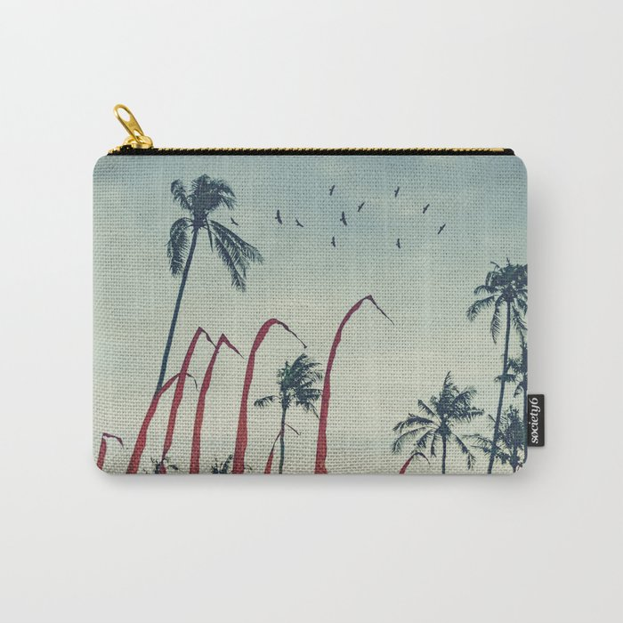 Coconut - Palms and Flags Carry-All Pouch