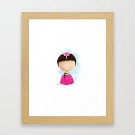 Tiny Humans Korean Girl in Traditional Hanbok Framed Art Print