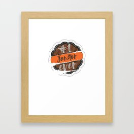 Janitor Number One Framed Art Print
