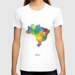 Brasil Watercolor Map T-shirt
