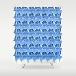 Tessellation with beach and sky Shower Curtain