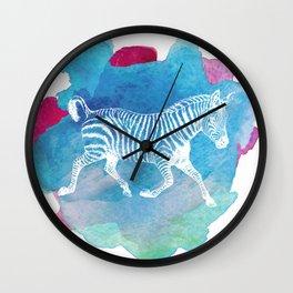 Color Spot Safari Zebra Wall Clock