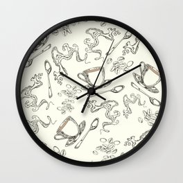 Latte coffee pattern  Wall Clock