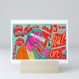 Not Real Art on a Popsicle Stick Mini Art Print