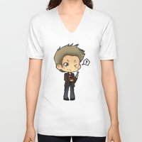 pie V-neck T-shirts featuring PIE by Lady Cibia