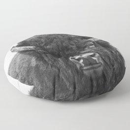 Buffalo Print, Bison Wall Art, Photography Print Floor Pillow