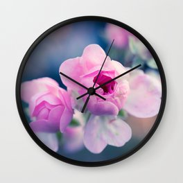 Pinkie Rose Buds Wall Clock