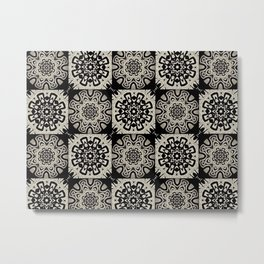 Tribal Tiles Metal Print