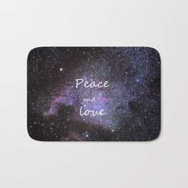 Peace and love. Christmas time. Bath Mat