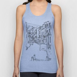 Brussels Streetscape Unisex Tank Top