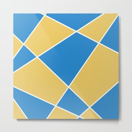 Geometric abstract - orange and blue. Metal Print