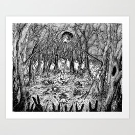 The Hawthorne Hare  Art Print