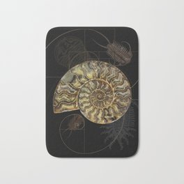 Ammonite Trilobite Fibonacci Spiral Bath Mat