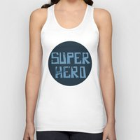 superhero Tank Tops featuring Superhero by Open The Mind