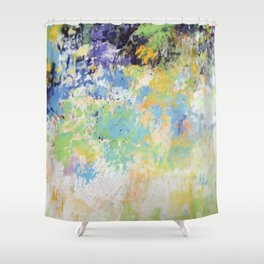 colorful modern abstract mixed media painting 5 Shower Curtain