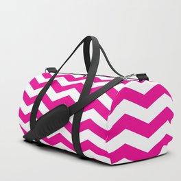 Pink Chevron Pattern Duffle Bag