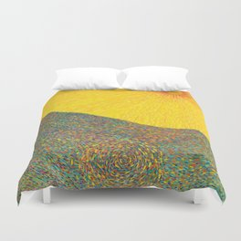 Here Comes the Sun - Van Gogh impressionist abstract Duvet Cover