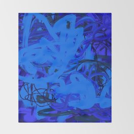 Blue & Navy Abstract Throw Blanket
