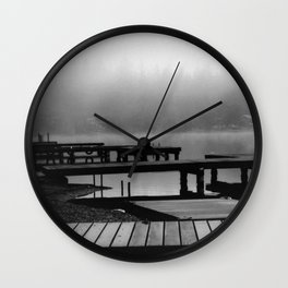 Mason Lake: Beach Front Wall Clock