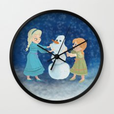 Do You Want To Build A Snowman? Wall Clock