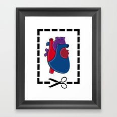 Cut My Heart Framed Art Print