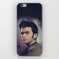 david tennant iPhone & iPod Skins featuring David Tennant - Doctor Who by KanaHyde