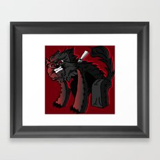 Curse of the furry Wereblock - Minecraft Avatar Framed Art Print
