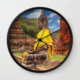 Ayutthaya Thai Buddha Wall Clock