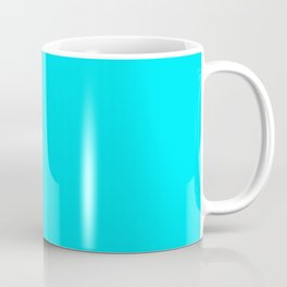 The Future Is Bright Light-Blue - Vivid Cyan  - Solid Color Coffee Mug