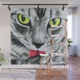 Golden Eyed Kitty Wall Mural