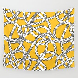 Nautical Yellow Rope Pattern Repeat Wall Tapestry