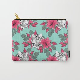 Stylish leopard and cactus flower pattern Carry-All Pouch