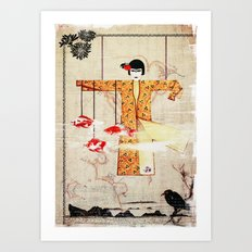 Turning Japanese Art Print
