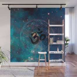 Om & Flower of Life Wall Mural