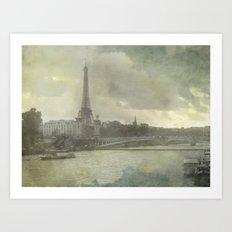 Paris, Pont d'Iéna Art Print
