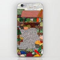 vegetable iPhone & iPod Skins featuring Vegetable market by Bozena Wojtaszek