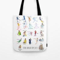 neymar Tote Bags featuring FIFA World Cup 2014 Moments! by Moonsia