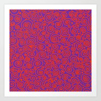 friday Art Prints featuring Friday by Bunyip Designs