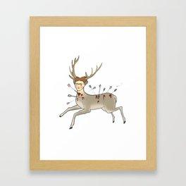 DEER FRIDA Framed Art Print