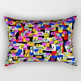 abstract laberinto Rectangular Pillow
