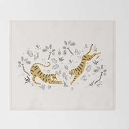 Tiger Dive Throw Blanket