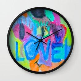 Summer Love | Painting by Elisavet Wall Clock