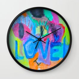 Summer Love | Painting by Elisavet Wall Clock