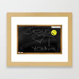 Bible School Lesson #1 Framed Art Print
