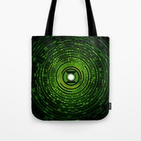 green lantern Tote Bags featuring Green Lantern by Electra