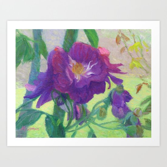 Purple Roses Art Print
