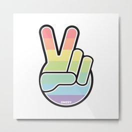 PEACE by CHIZZY Metal Print