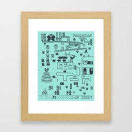 Retro Arcade Mash Up Framed Art Print