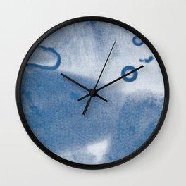 cyanotype Snowdrop bulb microscope cross-section  Wall Clock